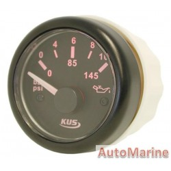 Oil Pressure Gauge - 52mm - Black