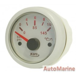 Oil Pressure Gauge - 52mm - White