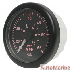 Speedometer 55mph / 90kmh - 85mm - Black