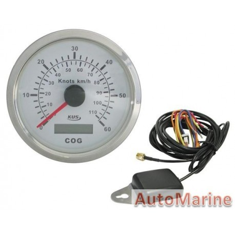 GPS Speedometer for Boats / Yacths / Trucks / Aeroplanes - White