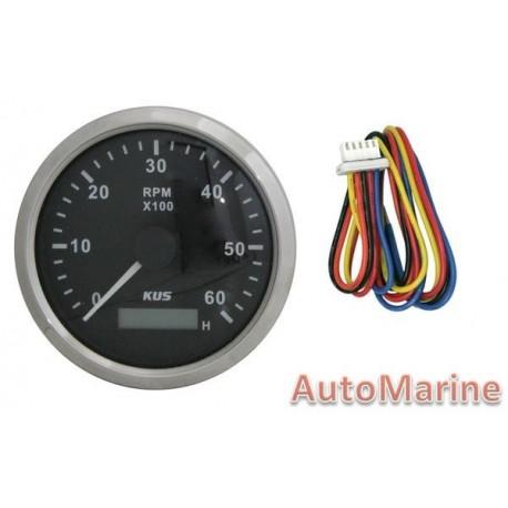 Tachometer 6000rpm - Inboard Motor - 12/24V