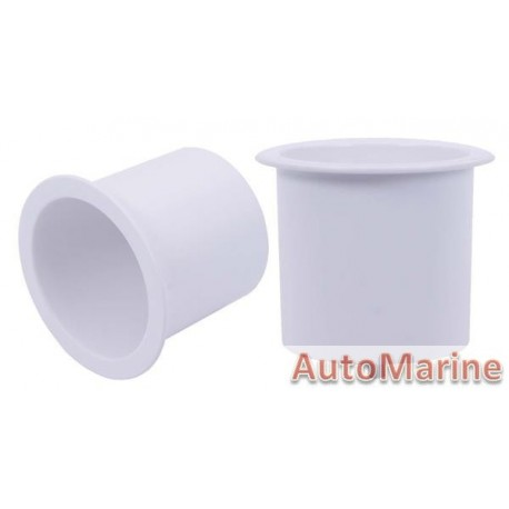 Plastic Cup Holder - 74mm - White