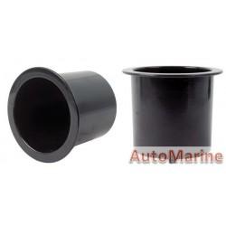 Plastic Cup Holder - 74mm - Black