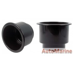 Plastic Cup Holder - 90mm - Black