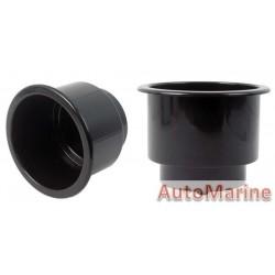 Plastic Cup Holder - 90mm - Black