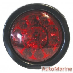 Round LED Red Trailer Lamp