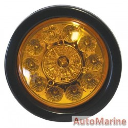 Round LED Amber Trailer Lamp