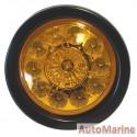 Round LED Amber Trailer Lamp