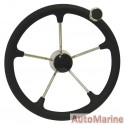 """Steering Wheel 15"""" - 316 Stainless Steel"""