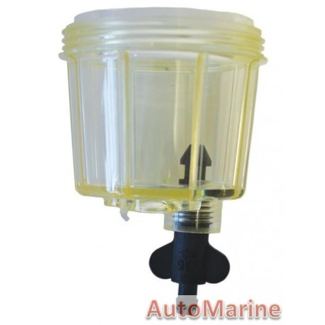 Water Separator Bowl with Screw Tap