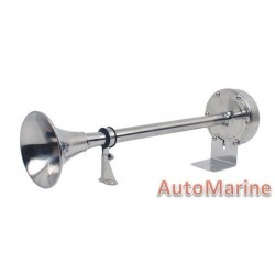 Marine Horn Trumpet - 12V Electric - Stainless Steel
