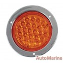 Round LED Amber Trailer Lamp 24 Volt