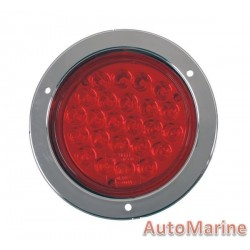 Round LED Red Trailer Lamp 10-30 Volt