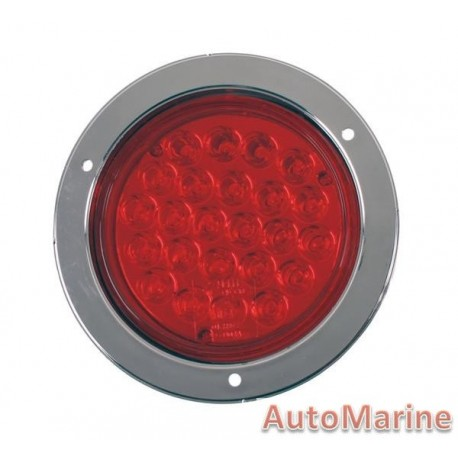Round LED Red Trailer Lamp 24 Volt