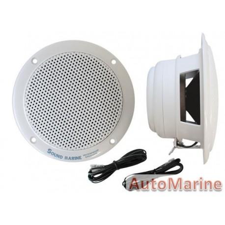 Marine Speakers - 2 Way 4 W/Acc