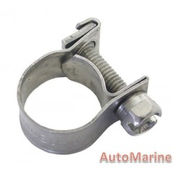 Hose Clamp - 9-13mm Full Band 304 Stainless Steel
