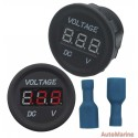 Voltage Gauge - 6-28V - Red Words