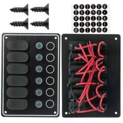Switch Panel 6 Way 12V Waterproof IP65