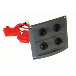 Switch Panel - 4 Switch - Splash Proof - Black