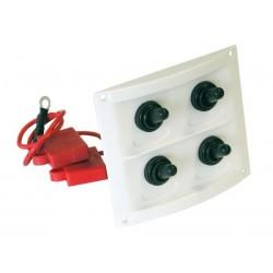 Switch Panel Waterproof White Plastic