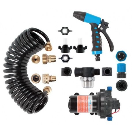 Seaflo Wash Pump Kit - 12V 20Lph - 7 Piece