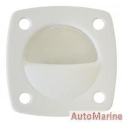 LED Flush Mount Courtesy Light - White