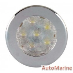 Roof Lamp with 6 LED - Chrome