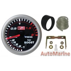 52mm Boost Gauge - Super White (AutoGauge)