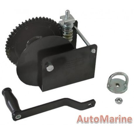 Hand Winch with Worm Gear - 1360kg (3000lb) Capacity