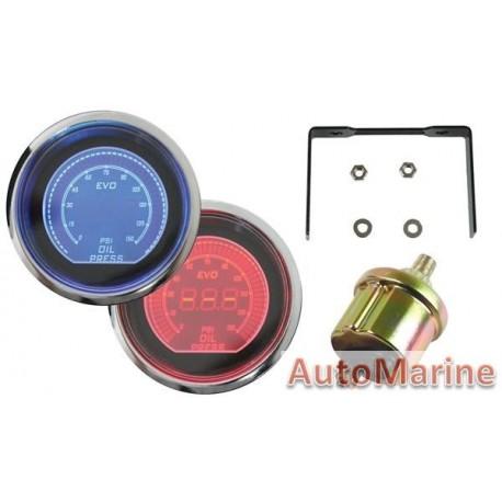 Auto Gauge Evo Digital 52mm Oil Pressure Gauge