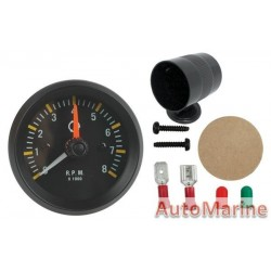 52mm on Dash Tachometer