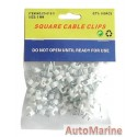 Square Cable Clips - 5mm