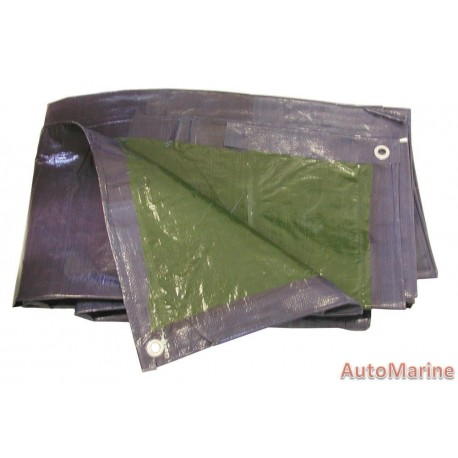 Polyeurathane Tarpaulin Green  Blue 2m x 4m
