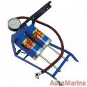 Double Barrel Foot Pump with Gauge