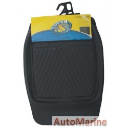 4x4 Mat Set - Black - Front Only 2 Piece - PVC