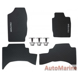 Mitsubishi Triton 2017 Onward - Rubber Mat Set -  OEM Fit