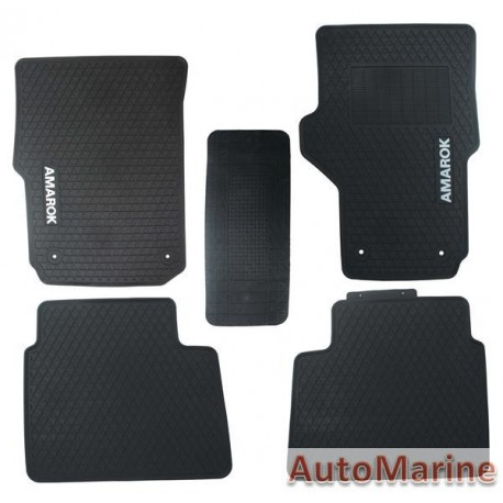 VW Amarok 2017 Onward - Rubber Mat Set -  OEM Fit