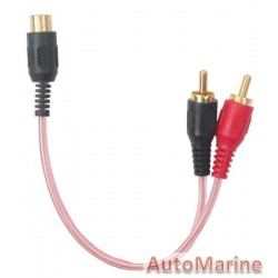 RCA Cable Clear Pink 2 Male 1 Female