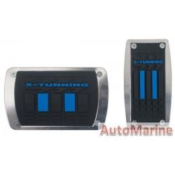 Pedal Pad Set (Black/Blue) - Automatic