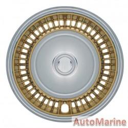 "14"" Chrome / Gold Wheel Cover Set"