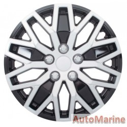 "15"" Silver / Ice Black Wheel Cover Set"