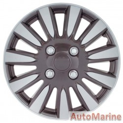 "15"" Silver / Charcoal Wheel Cover Set"