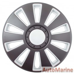 "15"" Matt Black / Silver Wheel Cover Set"
