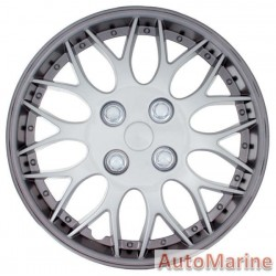 "15"" Gun Metal / Silver Wheel Cover Set"
