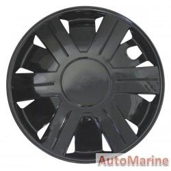 """13"""" Ice Black Wheel Cover Set"""