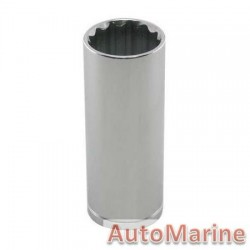 "Tube Socket - 1/2"" Drive - 12 Point - 21mm"
