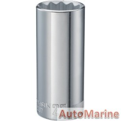 "Tube Socket - 1/2"" Drive - 12 Point - 27mm"