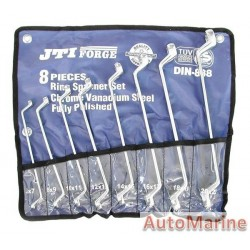 Offset Double Ring Spanner Set - 8 Piece