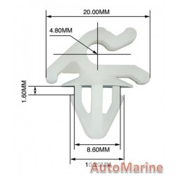 Panel Clips - Bonnet Catch - 10 Pieces