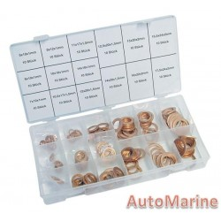 Assorted Copper Washers (150 Piece)